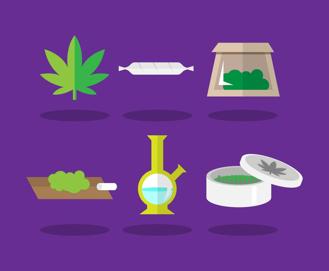 Cannabis Elements Illustration Vector