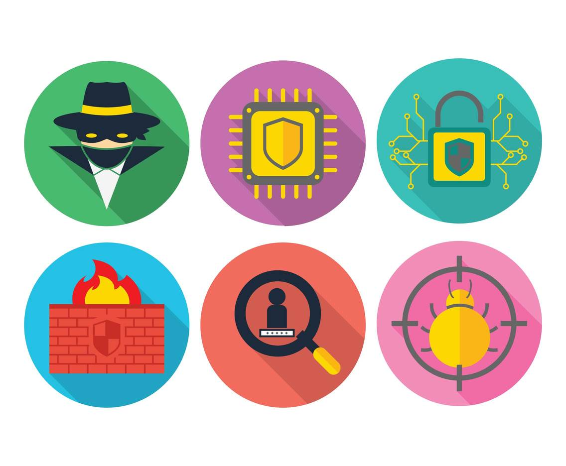 Cyber vector icon set