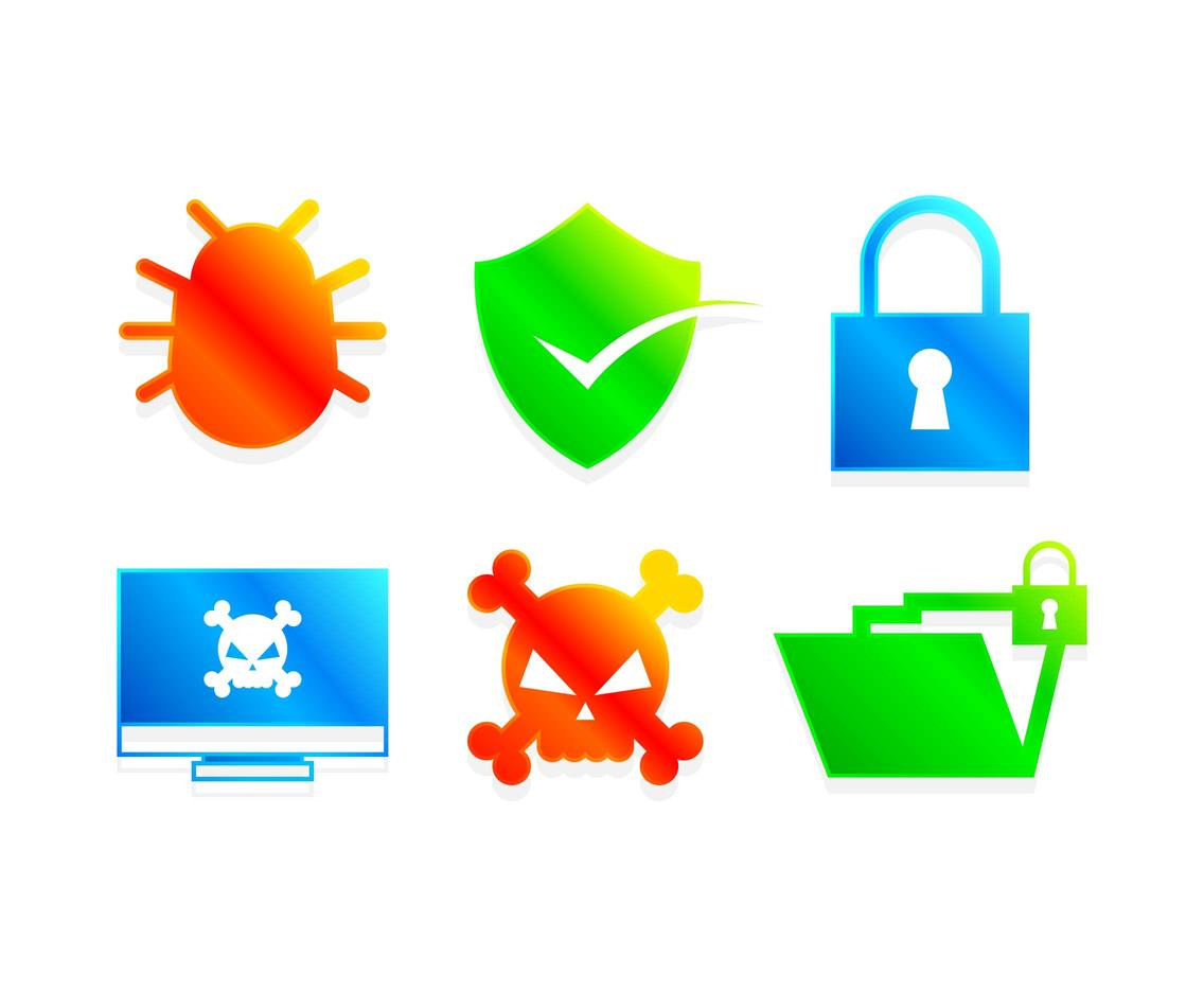 Cyber Security Internet Icons Vector