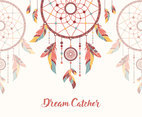 Ethnic Hippie Dreamcatcher Background Vector