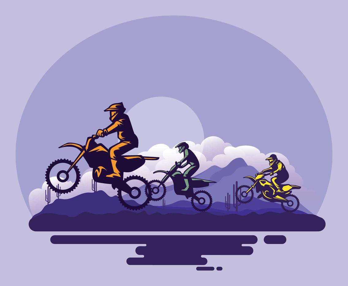 Free Motocross Silhouette Illustration
