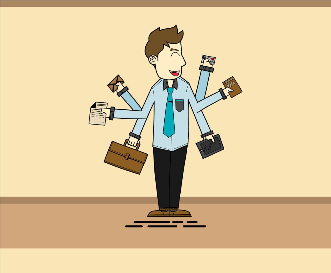 Juggling Business Man Vector