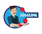 Juggling Man Vector