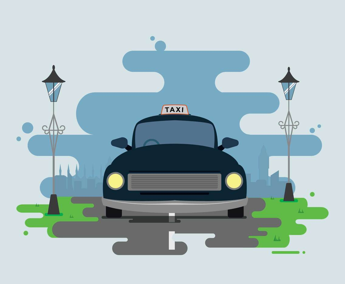Free London Taxi Illustration