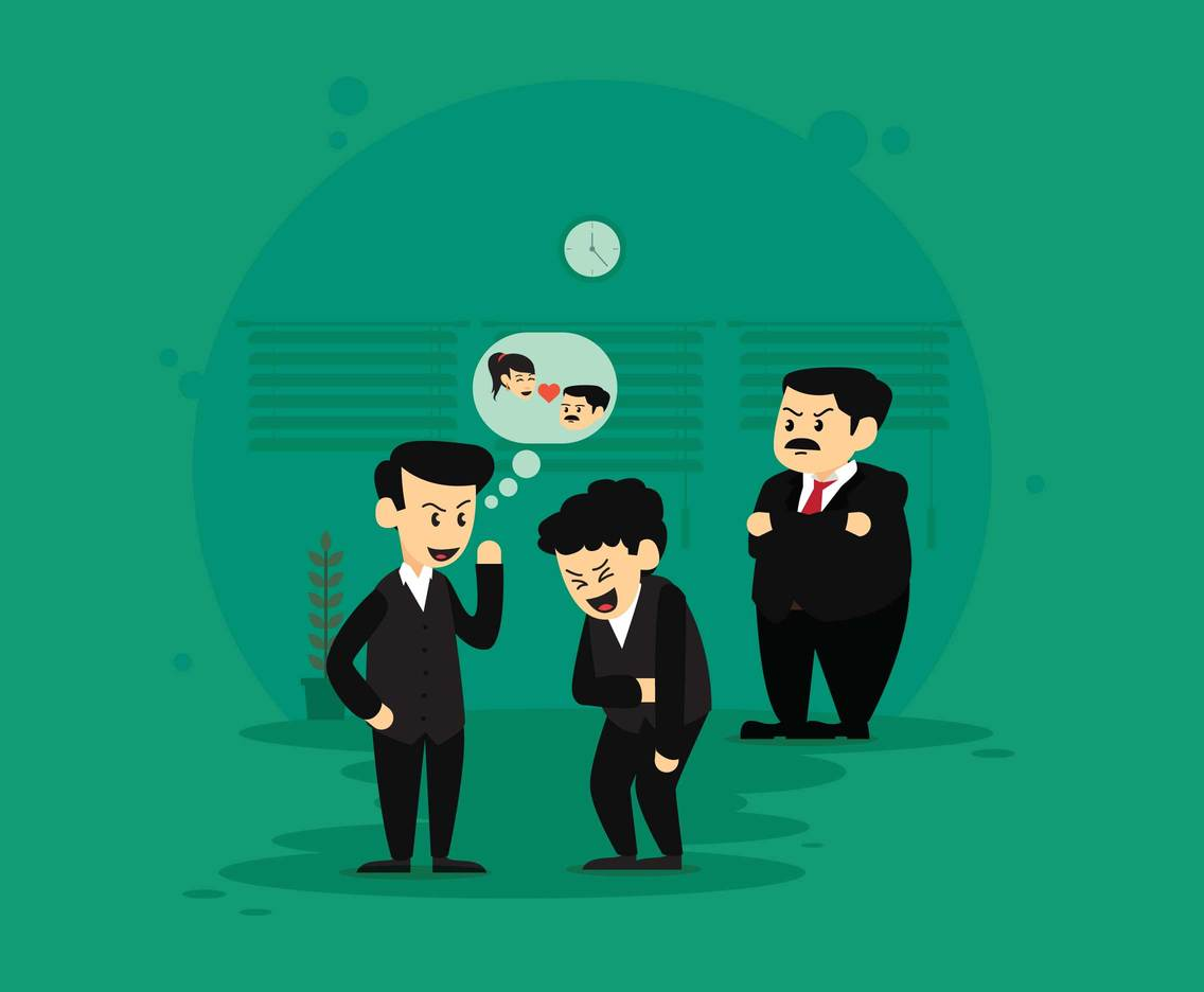 Gossiping Employees Illustration