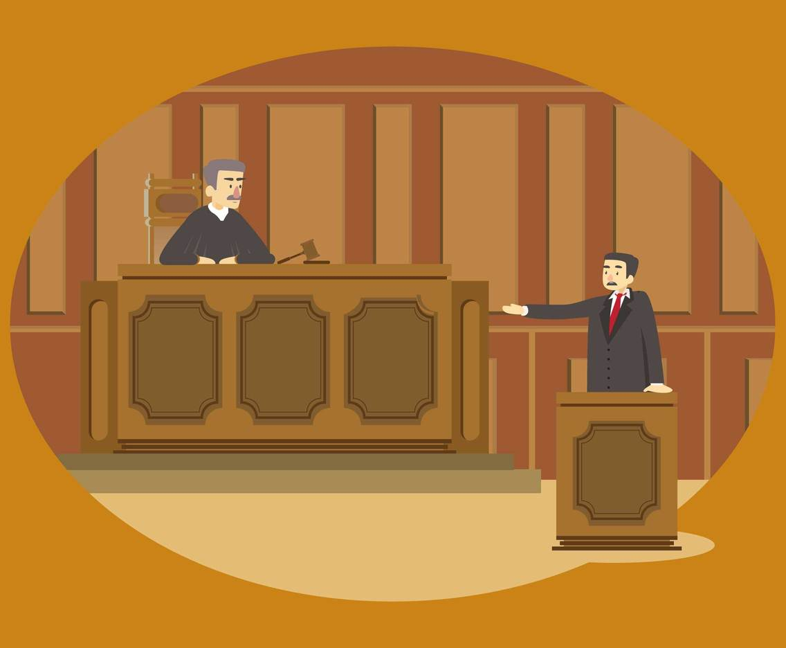 Image result for courtroom cartoon