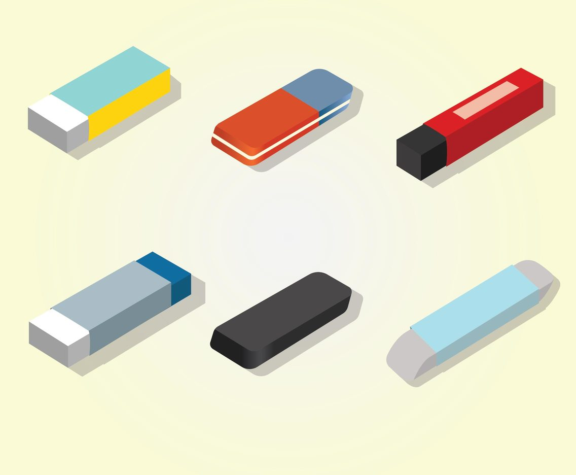 Eraser Vector Pack