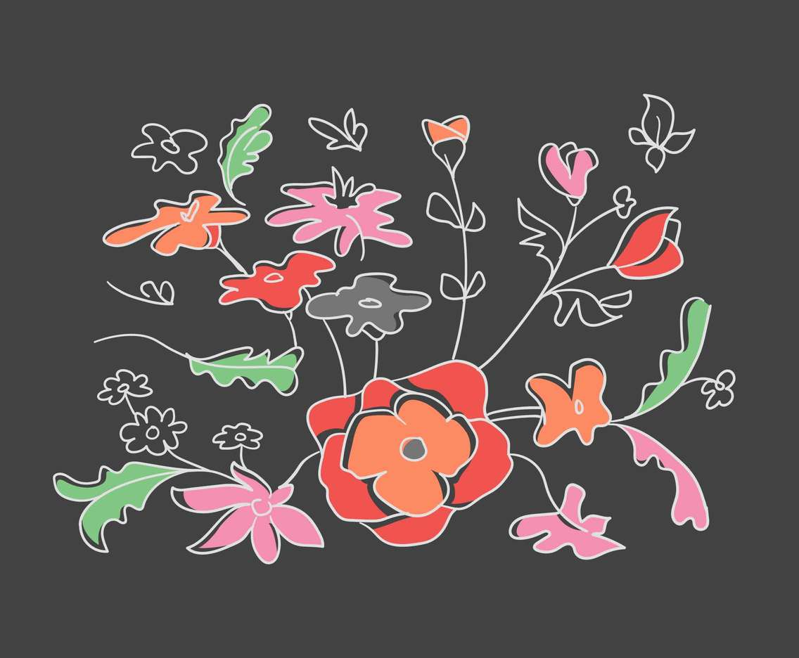 Free Beautiful Embroidery Flower Vectors