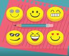 Eraser  Emoticons Vector Pack