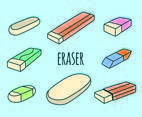 Eraser Collection Vector