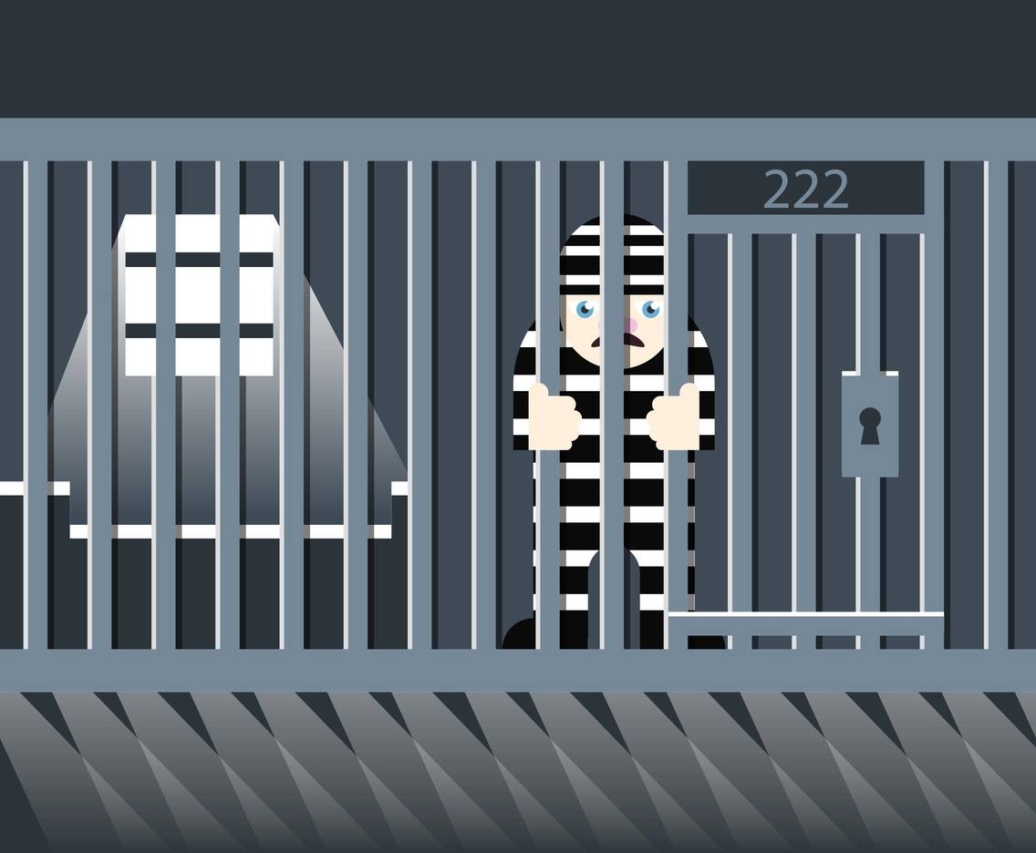 Jail Prisoner Illustration Vector