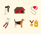 Dog Grooming Pet Icon Set