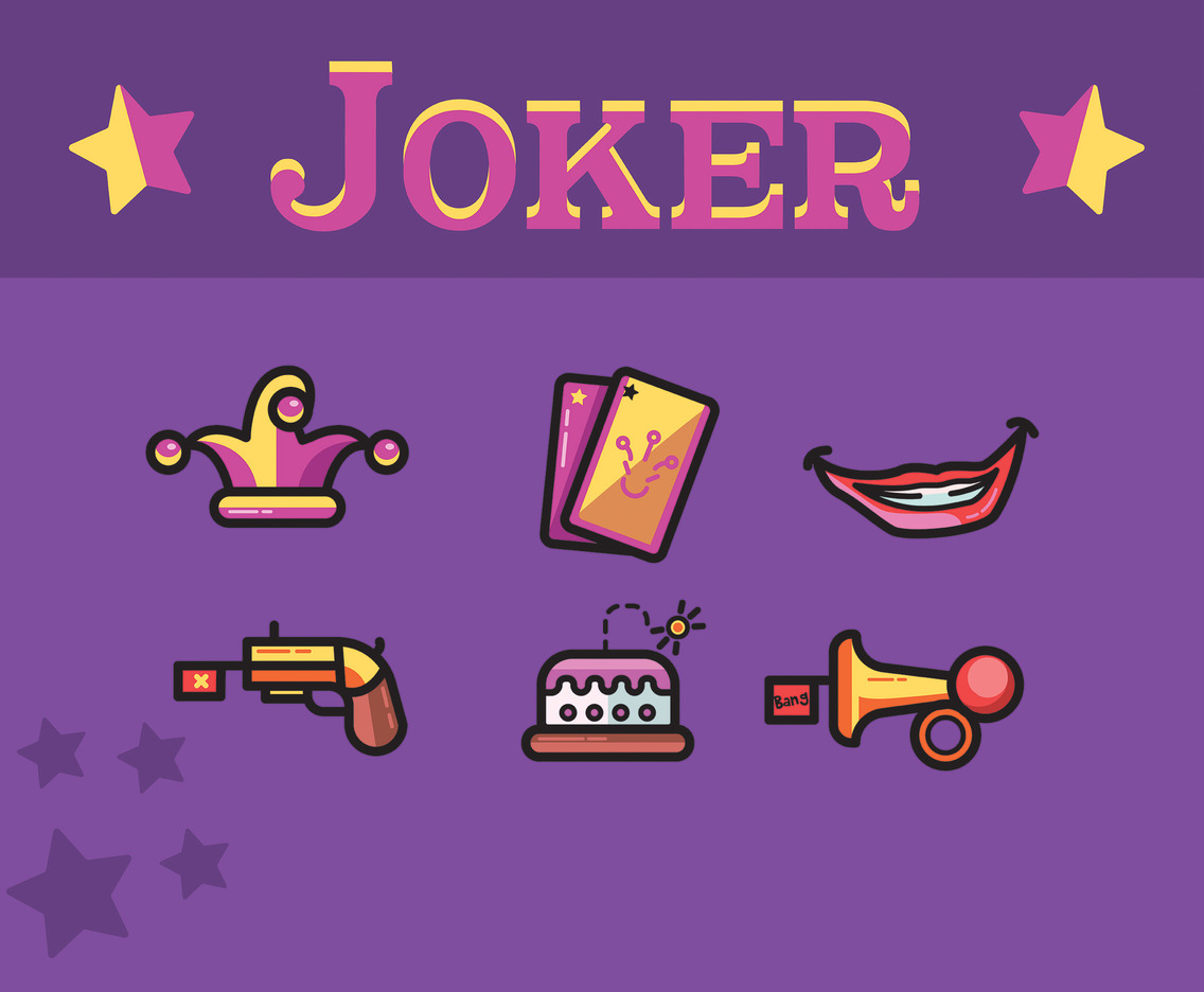 Joker Vector Purple Background