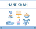 Hanukkah Icon Vector White Background