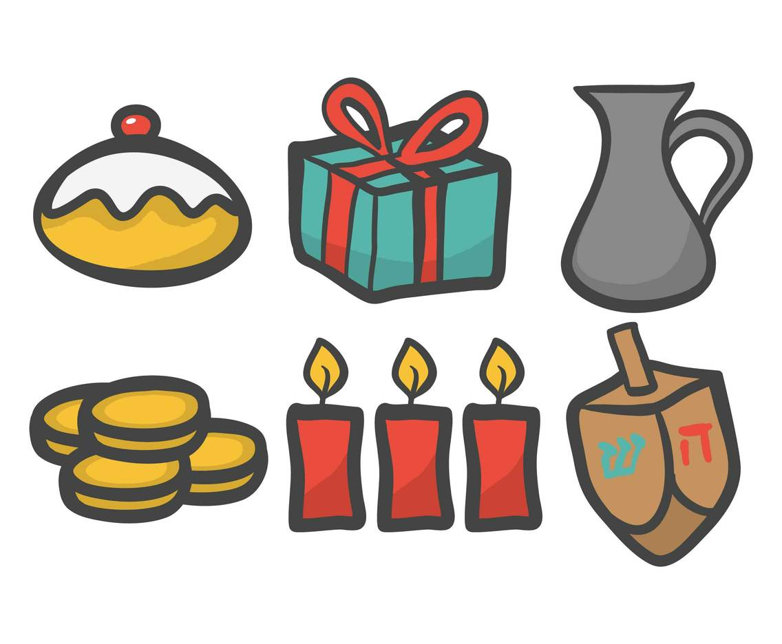 Hanukkah vector set
