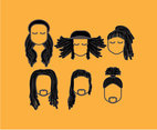 Various Dreadlocks Hairstyle Vector