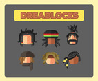 Dreadlocks Icon Vector