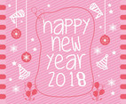 Happy New Year 2018 Vector