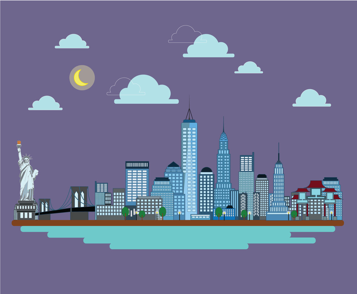 Manhattan Townscape Vector