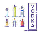 Vodka Vector White Background