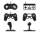 Black Joystick Icon Vector