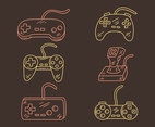 Sketch Joystick Collection Vector