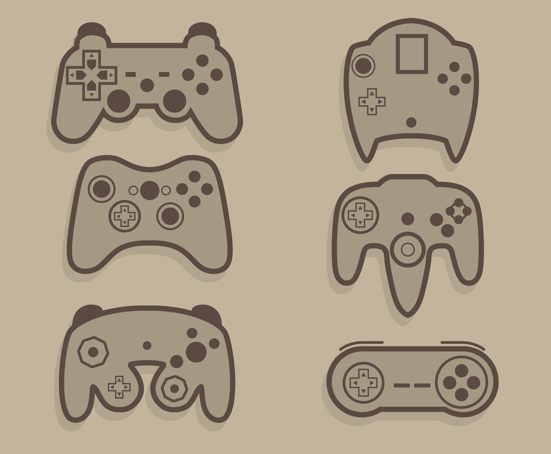 Joystick Collection Vector