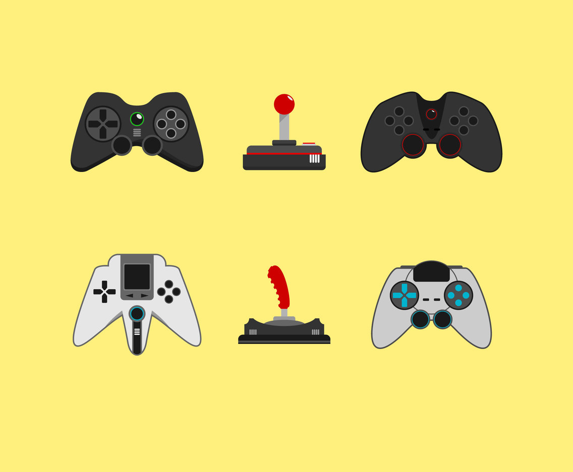 Various Joysticks Vector