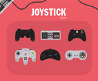 Joystick Icon Vector Pink Background