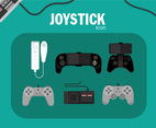 Joystick Icon Vector Green Background