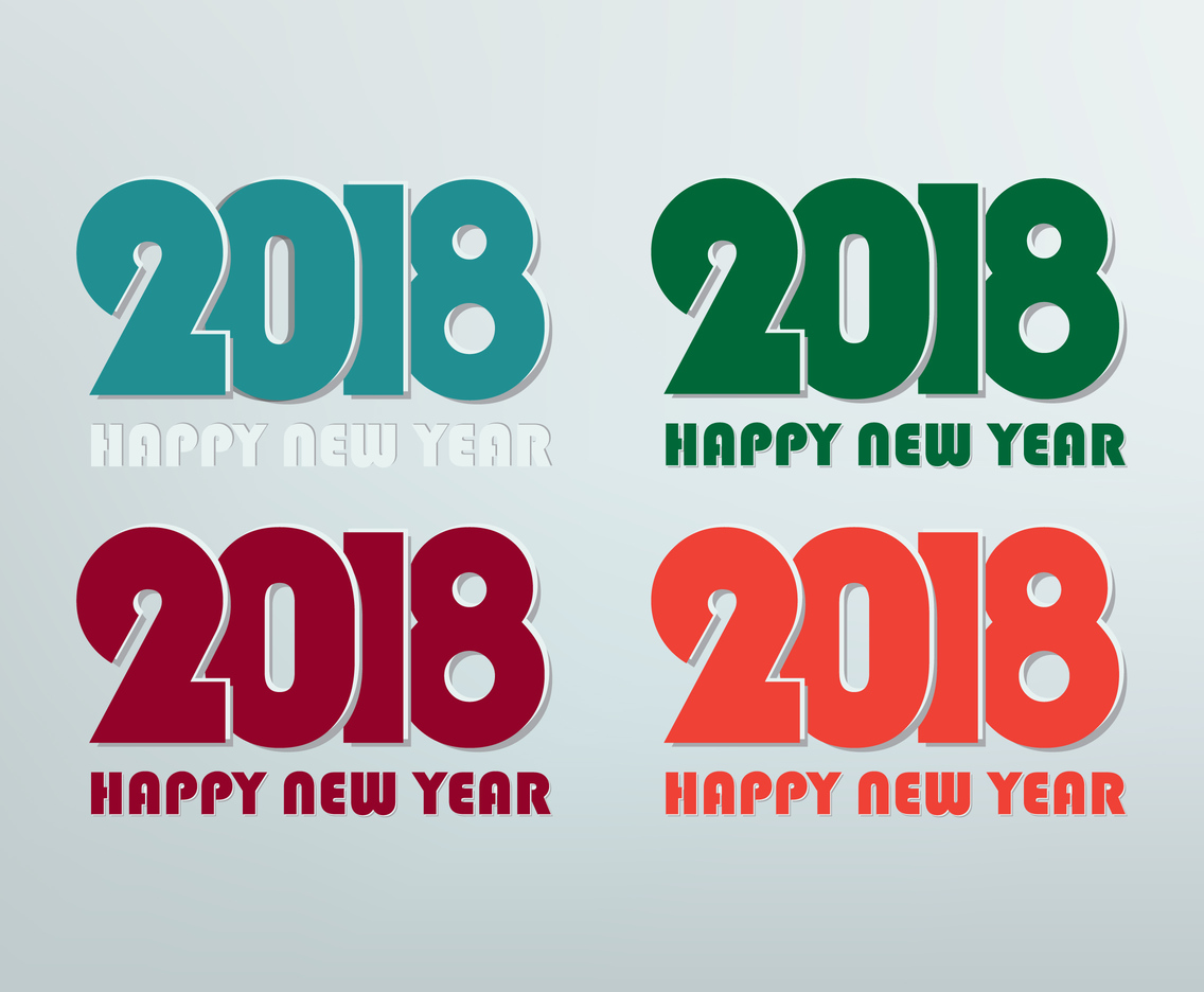Happy New Year 2018 Vectors
