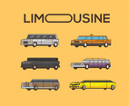 Limousine Vector Orange Background