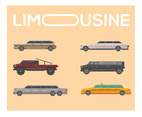 Limousine Vector in Flat Design