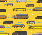 Limousine Vector Pattern Yellow Background