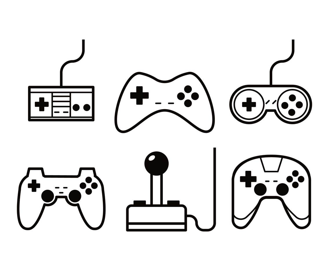 Joystick vector set