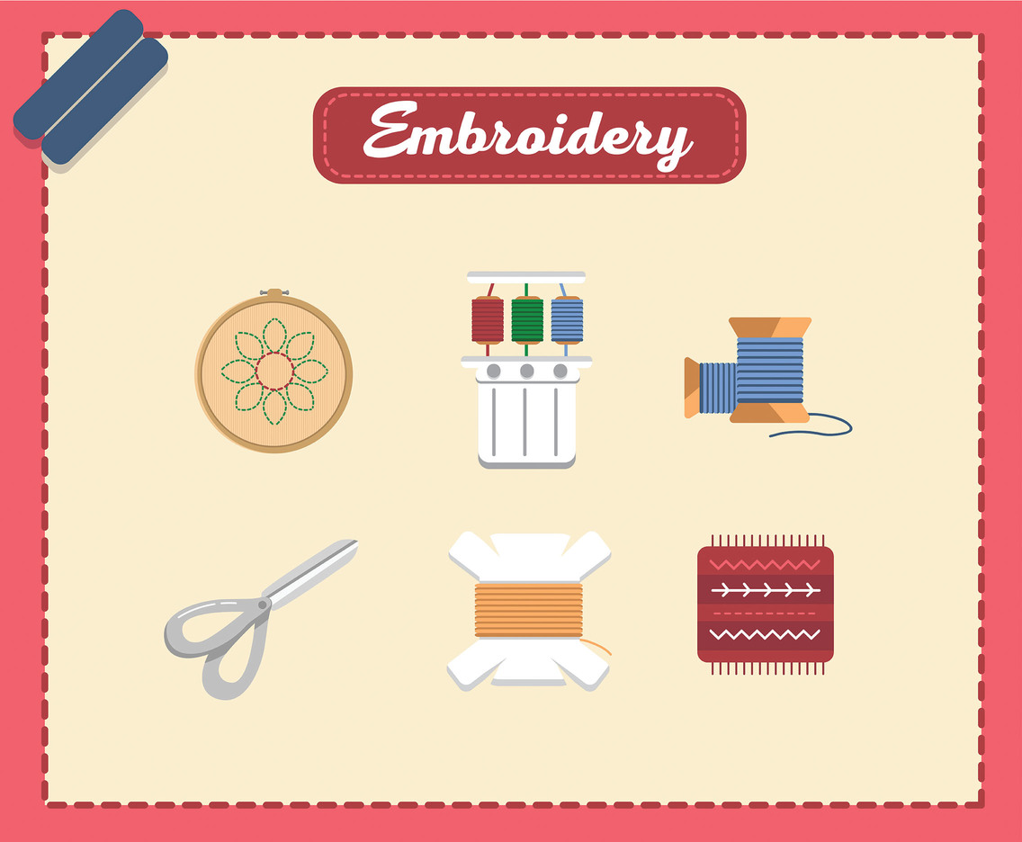 Embroidery Icon Vector