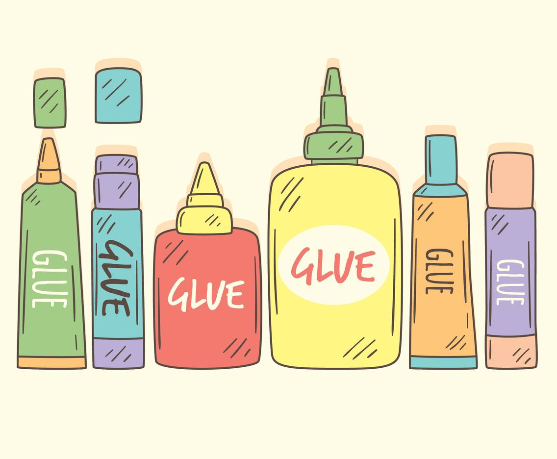 Hand Drawn Glue Collection Vector