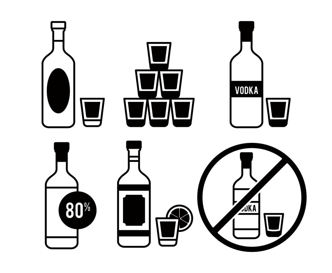Vodka vector set