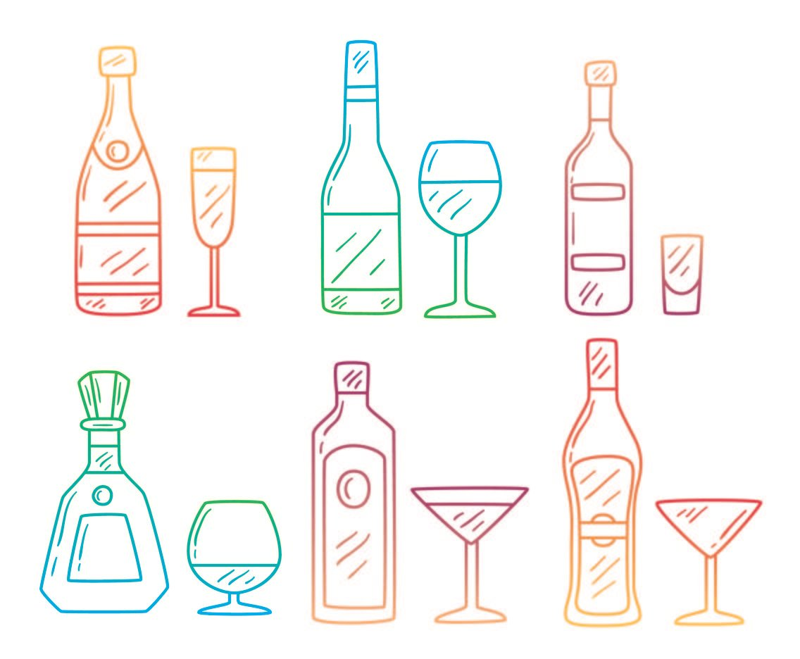 Sketch Vodka Collection Vector