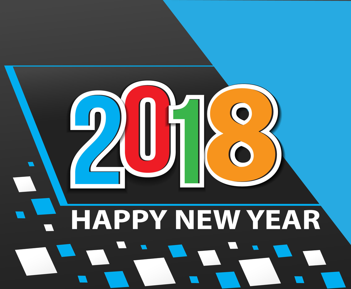 Happy New Year 2018 Vector Background