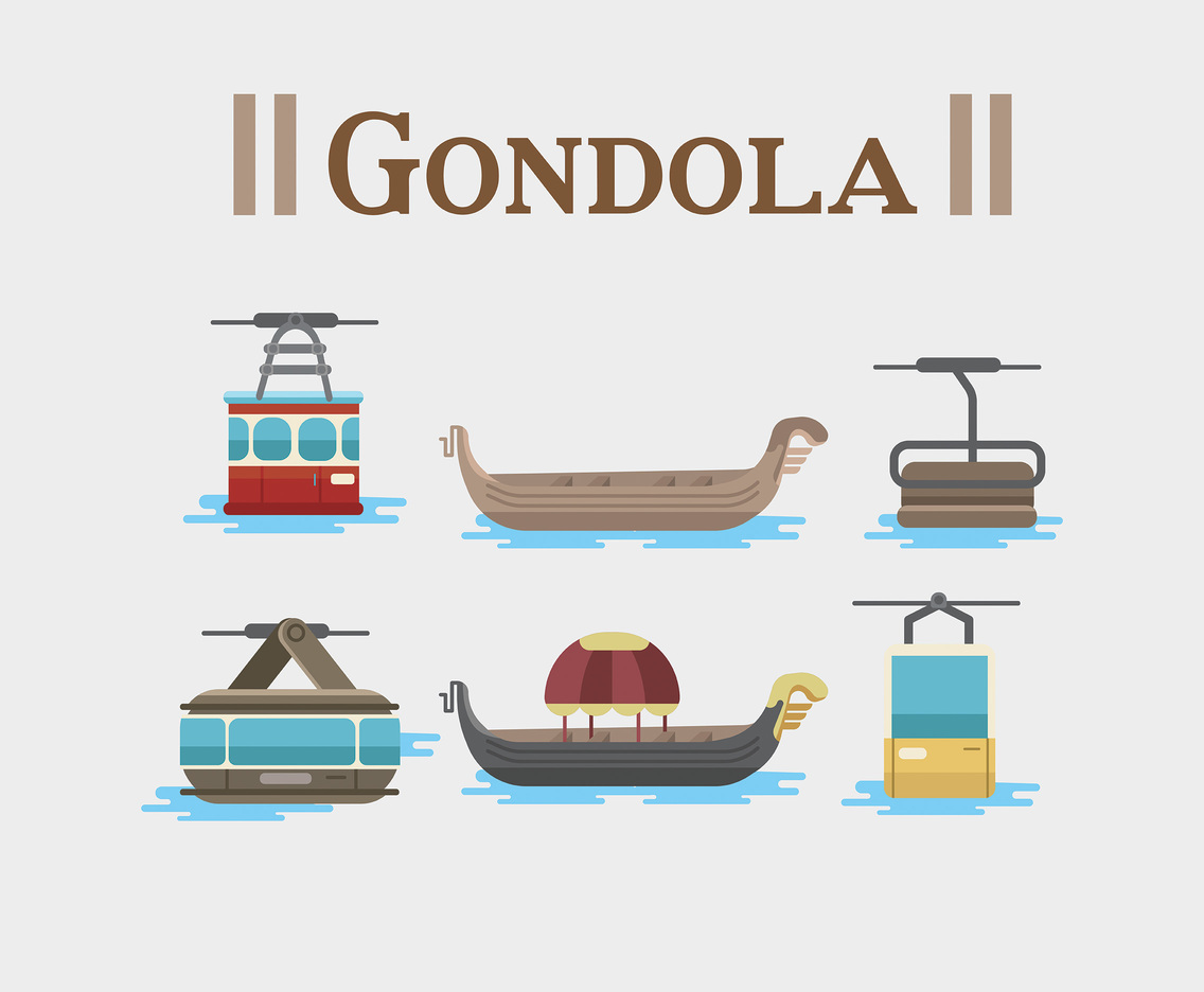 Gondola Icon Vector