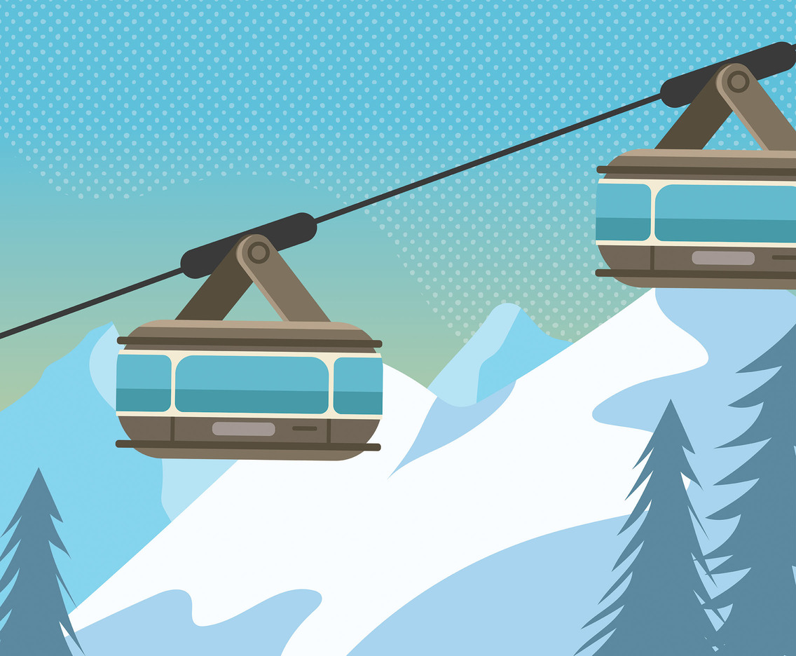 Gondola Lift Vector