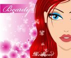 Redhead Beauty Vector Face