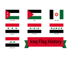 Iraq Flag History Vector
