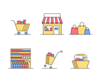 Supermarket Icon Vector