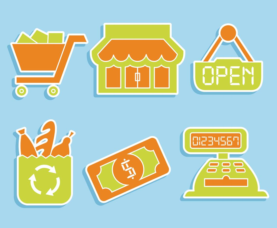 Supermarket Element Vector Set
