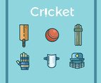 Cricket Vector Blue Background