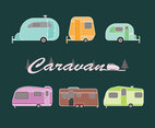 Various Caravan Vehicles Vector