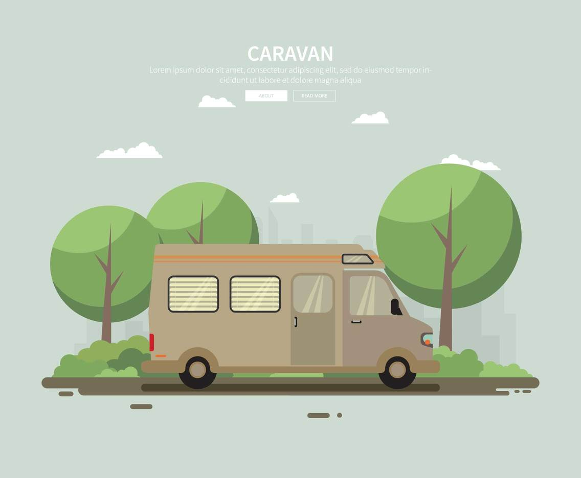 Free Caravan Illustration