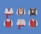 Ukrainian Traditional Clothes Vector